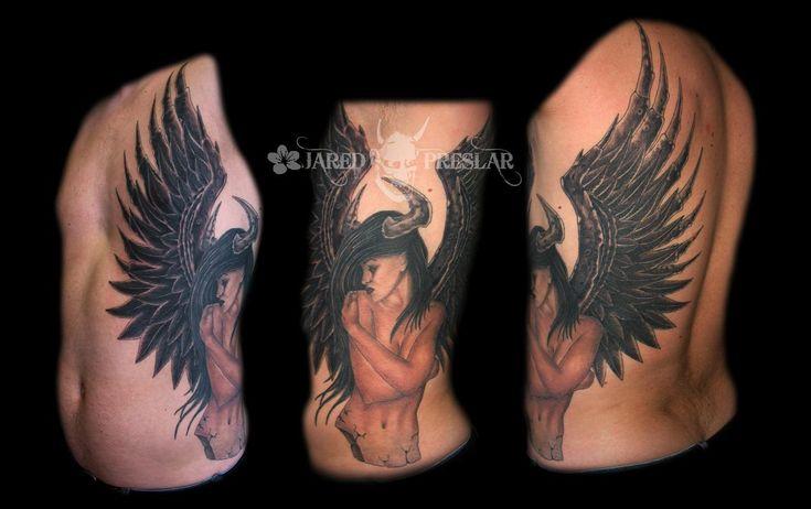 Off the Map Tattoo : Tattoos : Jared Preslar : Demon Angel