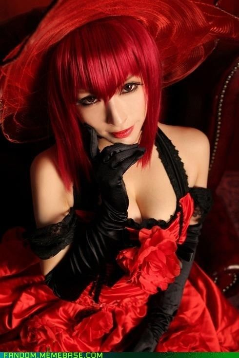 Black Butler(Kuroshitsuji) Madam Red cosplay.
