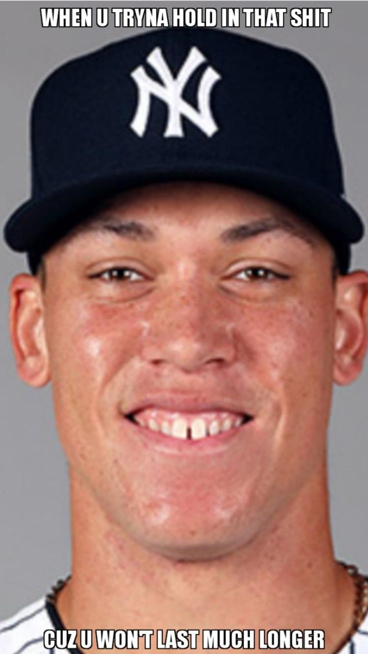 I was at the O's-Yankees game today and I realized how memeable Aaron Judge was.