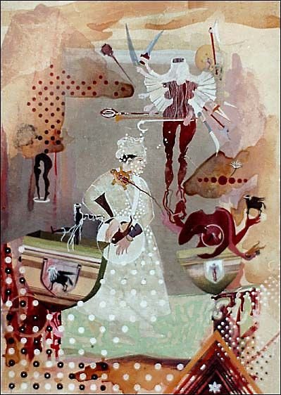Shahzia Sikander, Hood's Red Rider #1, 1997.  ARTseenSOHO -Shahzia Sikander at Deitch Projects