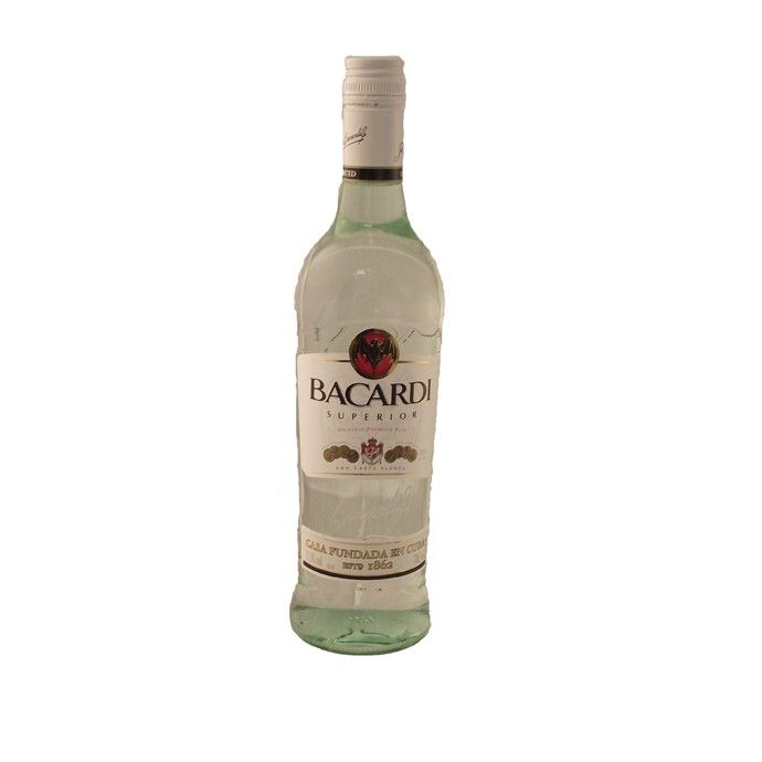 Bacardi White Rum 70cl  Bacardi is a superior quality White Rum that is perfect for a number of cocktail.  70cl (700ml) bottle. 37.5% alc./vol.