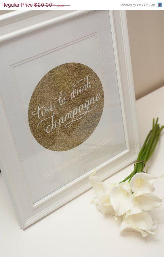 Champagne Wall Art Print