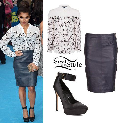 Vanessa White: Leather Skirt, Horse Print Shirt
