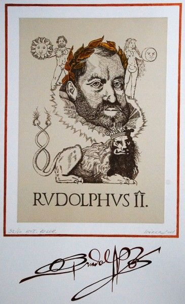 Rudolf II. Lithography by Mirka V.
