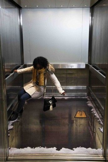 a hole in the elevator?