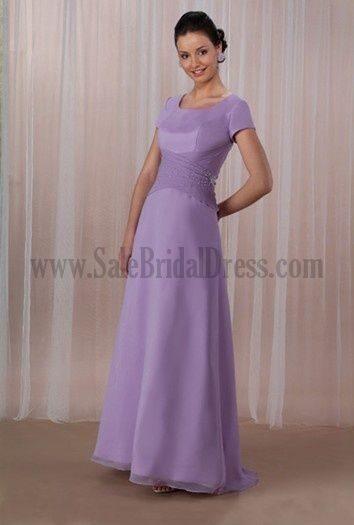 Hot Sale Dresses For Mother Of The Bride Crystal Cascading Ruffle Satin Chiffon Chocolate Purple For Cheap Wedding Party Dresses