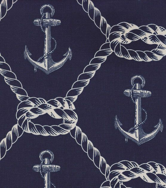 Nautical Fabric- Anchors Rope Home Decor | Lennon & Masons