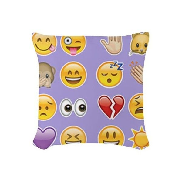purple emoji Woven Throw Pillow ($25) ❤ liked on Polyvore featuring home, home decor, throw pillows, emoji, purple emoji, woven throw pillows, purple home decor, purple throw pillows, purple toss pillows and square throw pillows