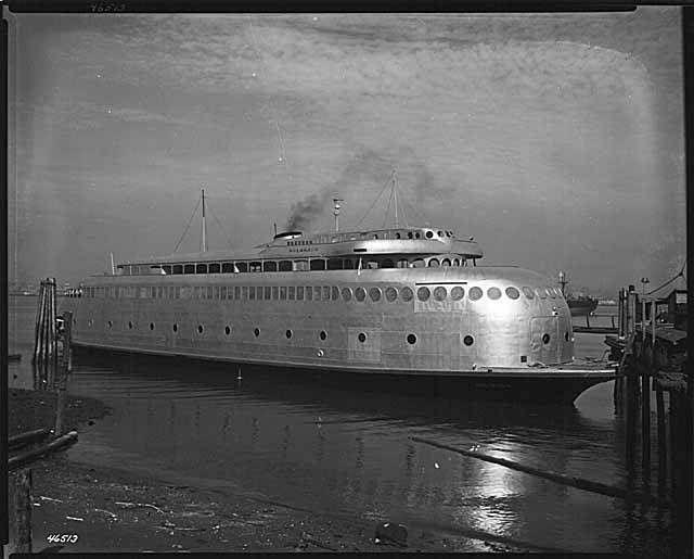 Lake Union Historic Wharf : mohai: The ferry Kalakala began service in 1935....