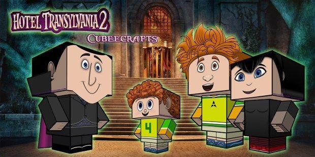Hotel Transylvania 2 Cubeecrafts | SKGaleana