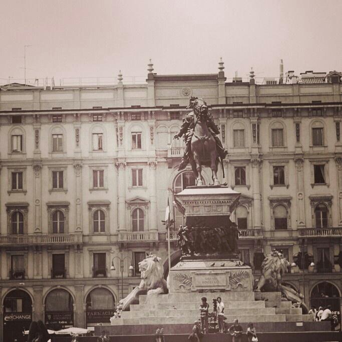 Milan cavalry statue