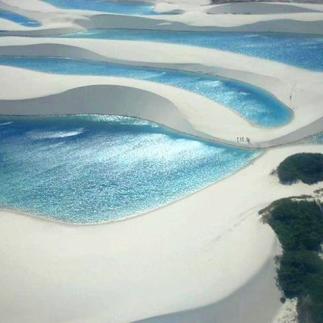 It's like an oasis beach in the middle of the desert - jericoacoara beach, Brazil