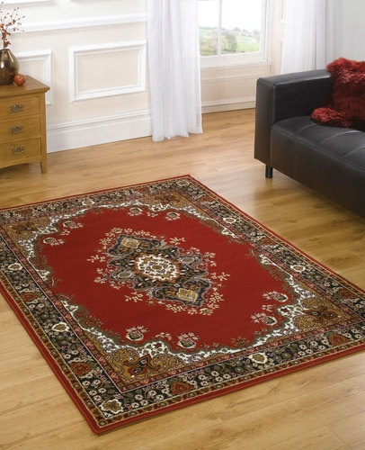 """£59.99 Traditional Classic Large Red Rug 180 x 250 cm (6' x 8'2"""") Oriental Carpet 