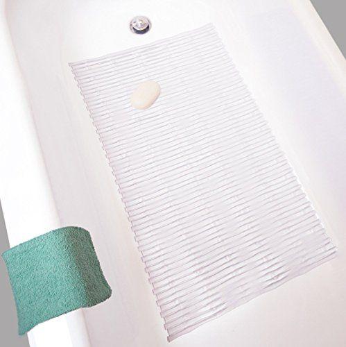#Vibrant #Premium Rattan Bath Mat Rectangle - Gentle Soft Kid Friendly Shower (Translucent) #M762