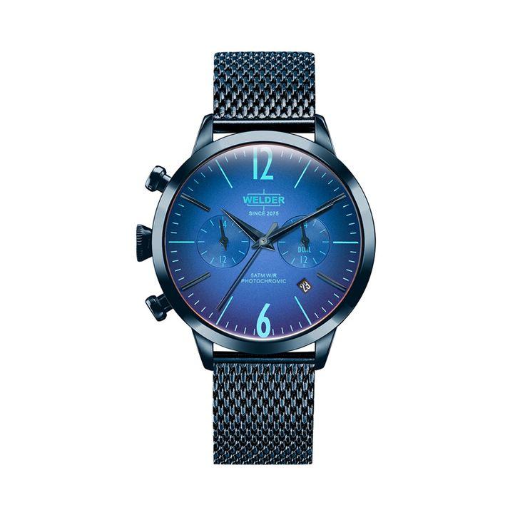 Γυναικείο μοντέρνο ρολόι WELDER WWRC603 Moody με μπλε καντράν, μπλε ατσάλινη κάσα & μπλε ατσάλινο μπρασελέ | Ρολόγια WELDER ΤΣΑΛΔΑΡΗΣ στο Χαλάνδρι #welder #μπλε #ιριδιζοντα #φωτοχρωμικα