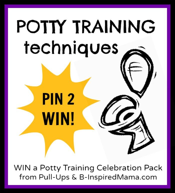 Have you had any potty training success? Find information from real moms on 4 popular Child Potty Training Techniques plus enter to win a Potty Training Celebration Pack from Pull-Ups at B-InspiredMama.com.