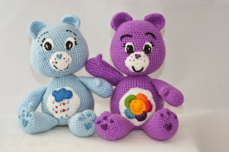 Care Bears ! Free pattern.