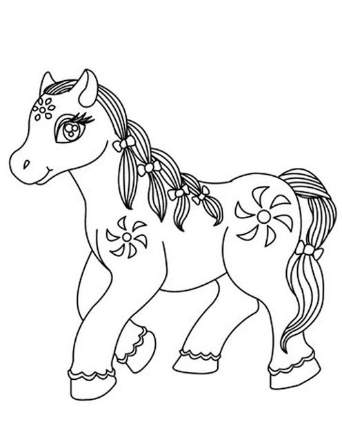 Aneka Gambar Mewarnai Gambar Mewarnai Kuda Poni Untuk Anak Paud Dan Tk Gambar Mewarnai Pinterest Coloring Pages Animal Coloring Pages And Coloring
