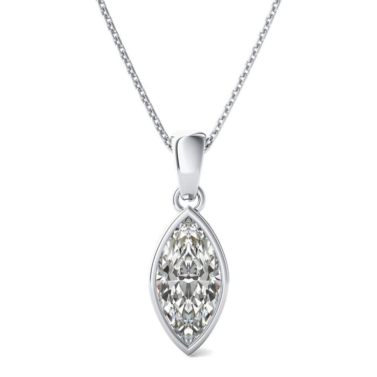 49 best marquise cut pendant images on pinterest diamond necklaces bezel set solitaire pendant with marquise cut diamond by 90210jewelry mozeypictures Choice Image