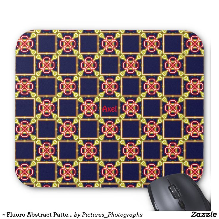 ~ Fluoro Abstract Pattern ~ Personalised AXEL ~ Mouse Pad