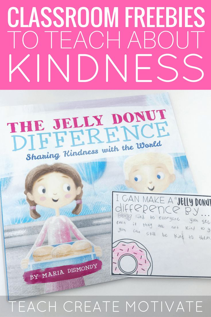 The Jelly Donut Difference-Spreading Kindess - Teach Create Motivate