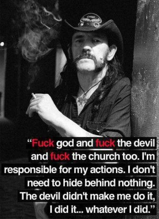 Hells yeah, Lemmy!