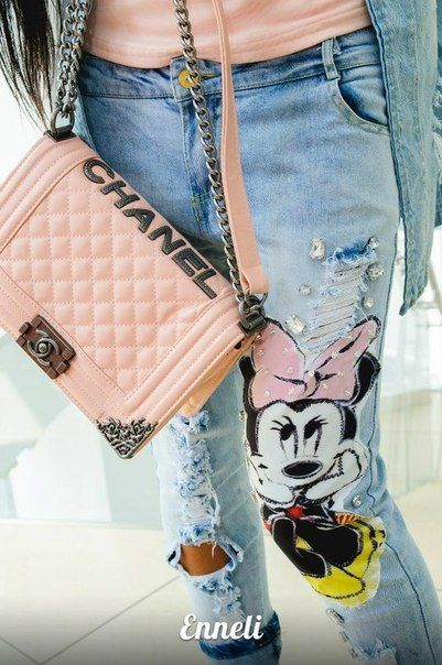 I love this jeans! Minnie patch on ripped jeans. Perfect. Cheap mouse mask, Buy Quality mouse mini directly from China mous Suppliers: &nbsp