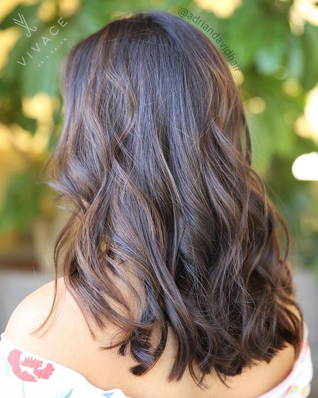 Sunkissed balayage by @adriandavidhair 🍂✨ We brightened our brunette with subtle balayage highlights. #lajollalocals #sandiegoconnection #sdlocals - posted by VIVACE SALON  https://www.instagram.com/vivacesalon. See more post on La Jolla at http://LaJollaLocals.com