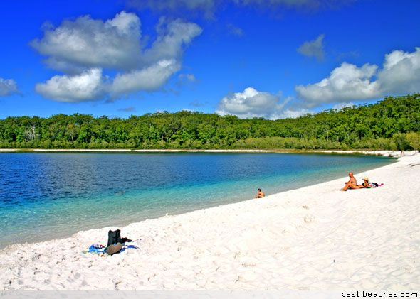 This is beautiful and relaxing Lake Mackenzie on Fraser Island in Queensland