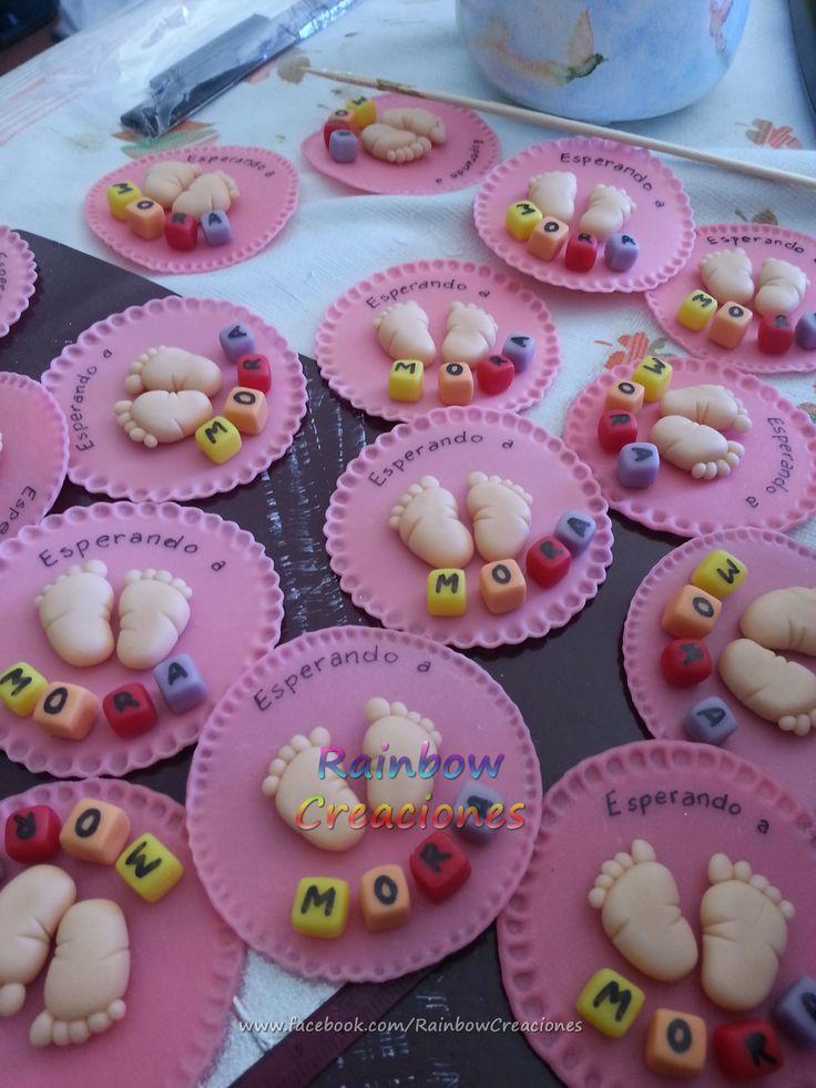 Imán souvenir para baby shower Consultame por este u otros modelos en www.facebook.com/RainbowCreaciones