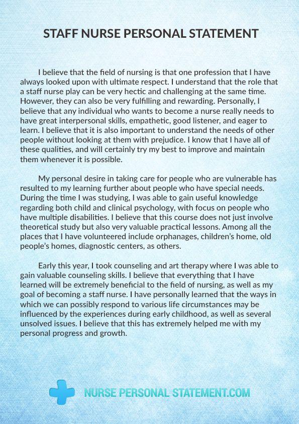 Pin On Staff Nurse Personal Statement