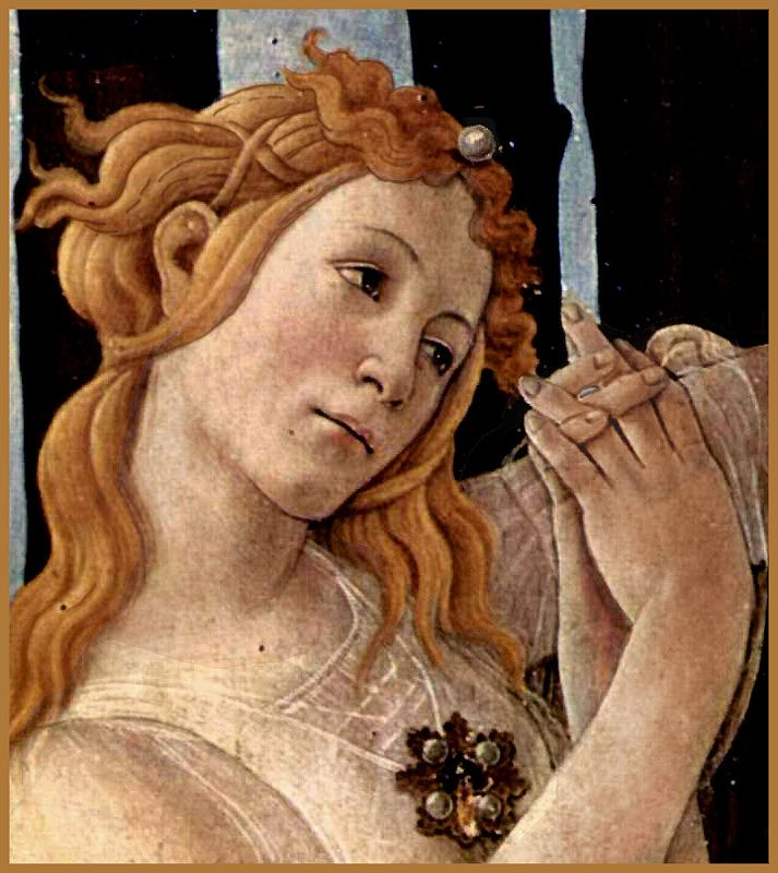 'LA PRIMAVERA' di Sandro  Botticelli - Dettaglio dalle  Tre Grazie  1477-78