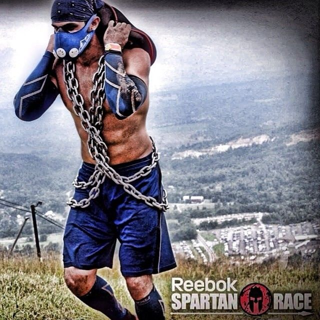 Spartan Race Chain wraps AND a sand bag. BEAST MODE!!