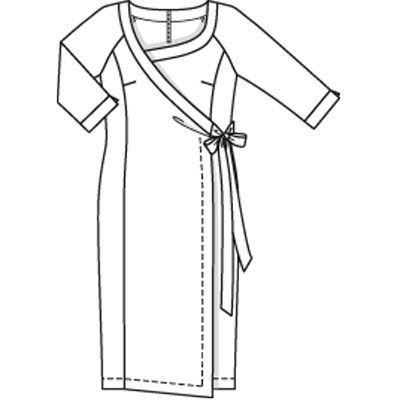 Платье - выкройка № 135 из журнала 7/2009 Burda – выкройки платьев на Burdastyle.ru