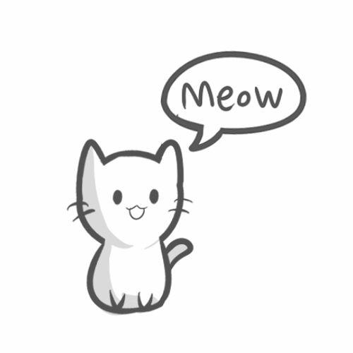 120060 Animated Kitty Drawinggif 500500 Craft Pinterest