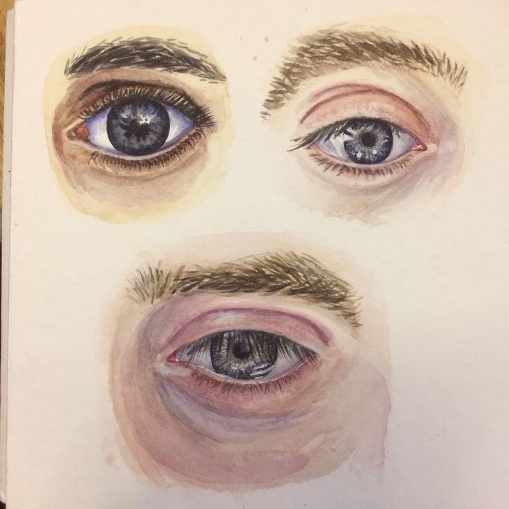 Рисунки глаза акварелью