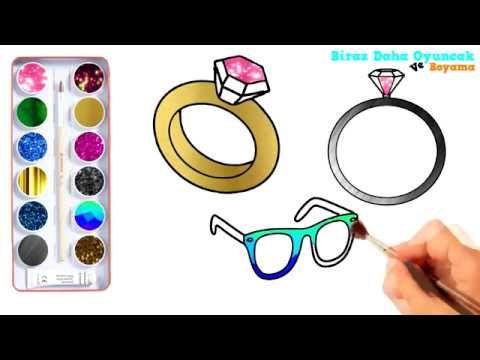 Yüzük Ve Gözlük Boyama Sayfası çocuklar Için Boyama Videoları