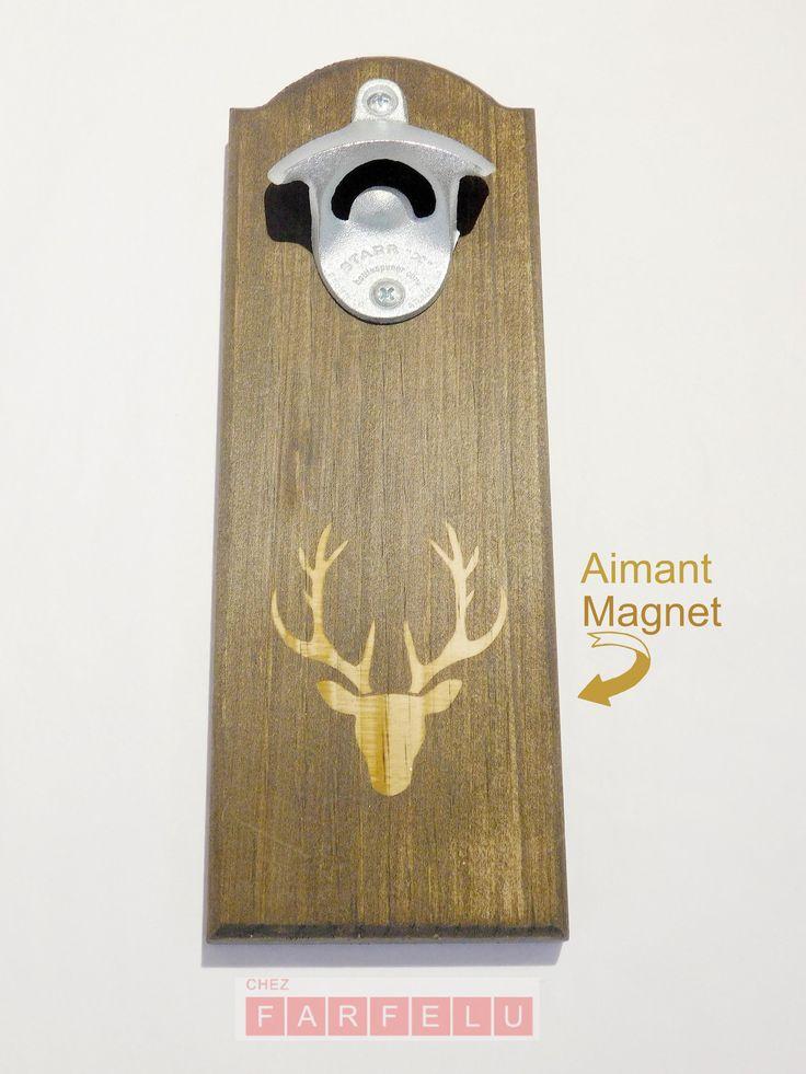 Ouvre bouteille magnétique en bois Chevreuil | accueil