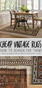 How To Search For Cheap Vintage Rugs Online