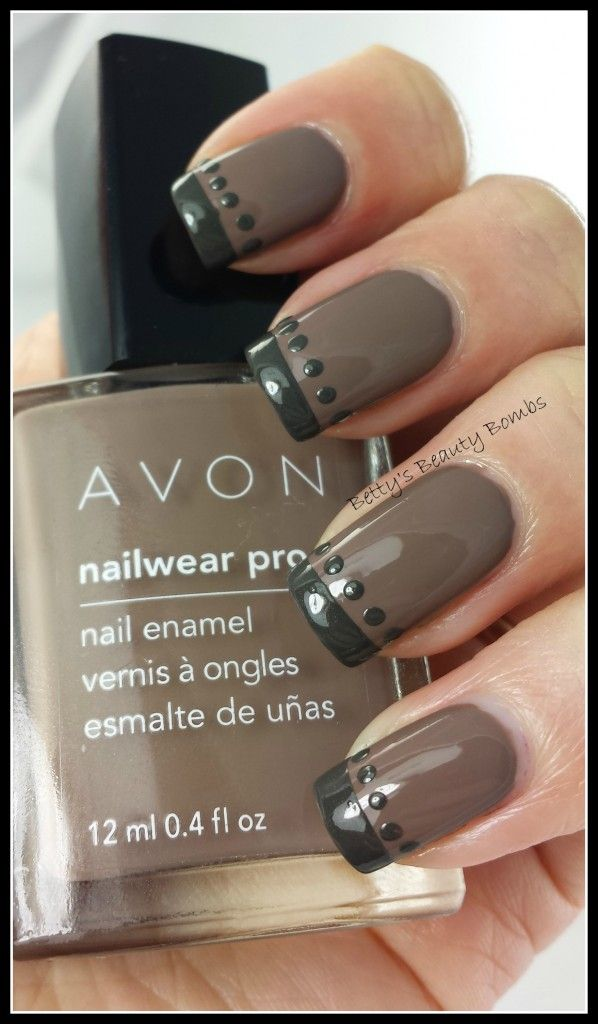 http://www.bettysbeautybombs.com/2014/04/25/avon-tempted-avon-untamed-swatches-art/ / Avon French Mani