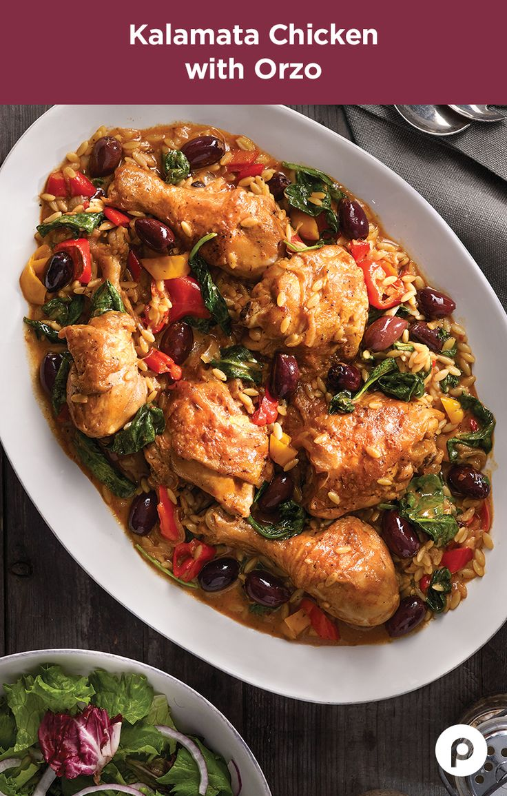 There comes a time in everyone's lives when they need to push themselves—especially when it comes to chicken recipes. It's easy to stick to the basics night after night. Make tonight the night you step outside of your comfort zone and do something a little different with sweet onions, peppers, red pepper, and Greek yogurt ranch dressing. Go the distance with the Kalamata Chicken with Orzo from Publix Aprons. Who knows what you'll be able to accomplish tomorrow.