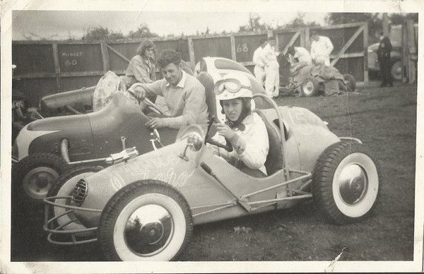 John Churchill at Aranui speedway, 1950s