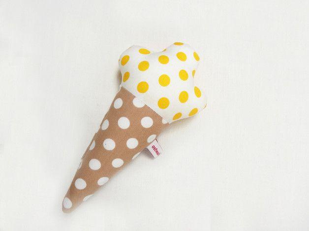 Eis - Rassel für Babys, Greifling zum Spielen für Babys, Kinderspielzeug / ice-cream rattle for babies, kids toy made by ostwald via DaWanda.com