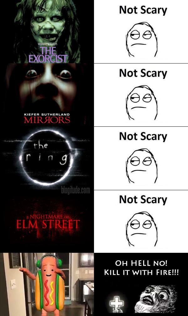 """Horror Movies: What Scares YOU? (by Mike) :: http://blogitude.com/2017/07/14/horror-movies-scares/ :: I still have recurring nightmares about those little kids singing, """"There's something special going on at Shell!"""" in the gas station commercial from twenty years ago…"""