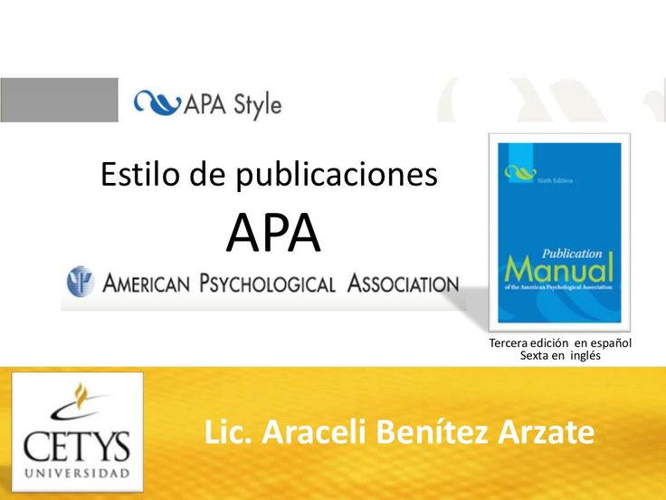 ¿Cómo citar en formato APA? by Fernanda Millán via slideshare
