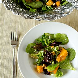 Roasted Butternut Squash Salad with Warm Cider Vinaigrette from the ...