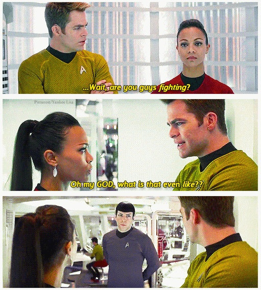 I busted up when I saw this, heh. Spock knew he was in for it when these two started working together.