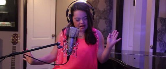 This is fantastic!  12-Year-Old With Down Syndrome Shuts Down Statistics With John Legend Cover