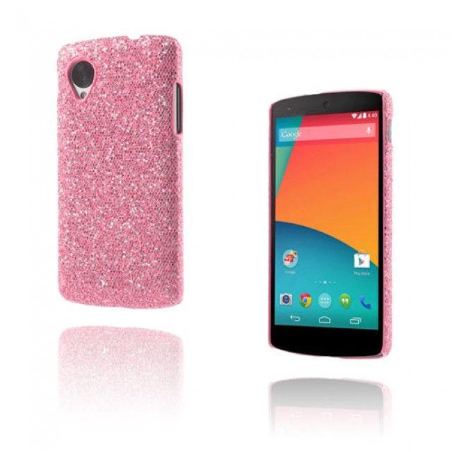 Glitter (Pinkki) Google Nexus 5 Suojakuori - http://lux-case.fi/google-nexus-5-suojakuoret.html