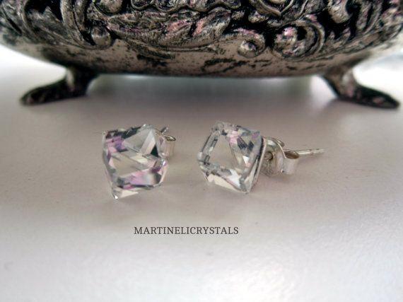 Clear Crystal Cube Swarovski Diamond Clear by MARTINELICRYSTALS